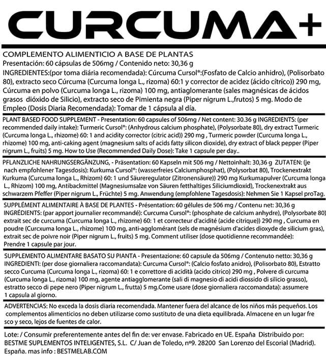 etiqueta curcuma